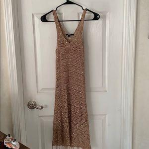 Dresses & Skirts - Rose Gold spaghetti/tank dress size:small